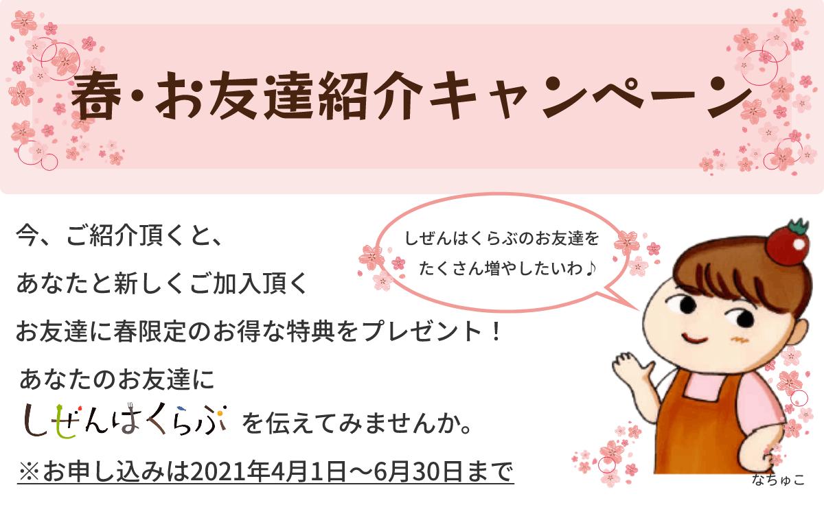 春・お友達紹介キャンペーン